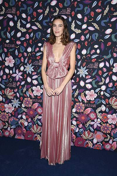 PARIS, FRANCE - FEBRUARY 26:  Alexa Chung attends the Harper's Bazaar Exhibition as part of the Paris Fashion Week Womenswear Fall/Winter 2020/2021 At Musee Des Arts Decoratifs on February 26, 2020 in Paris, France. (Photo by Pascal Le Segretain/Getty Images)